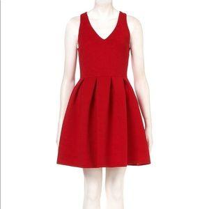 TopShop Red Skater Dress Size 4